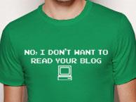 No, no quiero leer tu blog